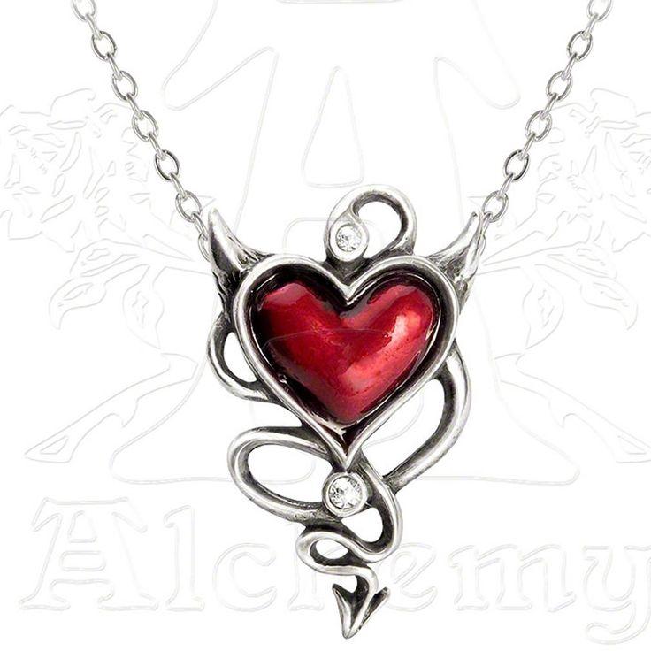 Devil Heart - Pendentif gothique - Alchemy Gothic UL17