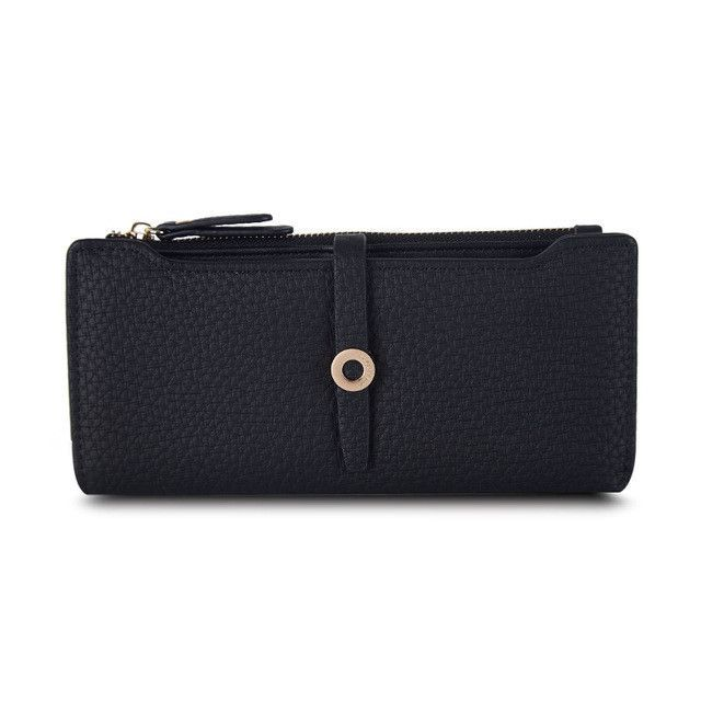 Top Quality Latest Lovely Leather Long Women Wallet Fashion Girls Change Clasp Purse Money Coin Card Holders wallets Carteras