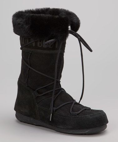 Take a look at this Black Vagabond Boot - Women by Moon Boot The Original on #zulily today!