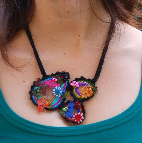 Multi shapes in a necklace by StudioKarma on Etsy