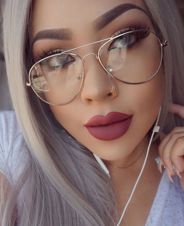 3c1661ae360c Classic Aviator Clear Lens Gold Metal Small Frame Eyeglasses Glasses in  Clothing