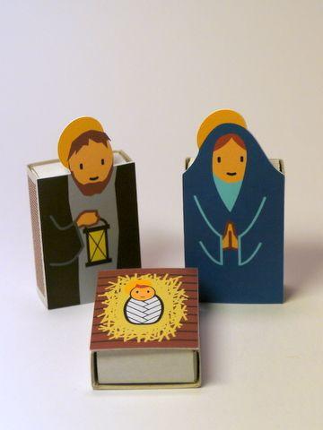 Pessebre-Calendari d'advent amb caixes de mistos