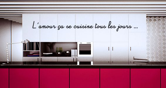 sticker citation amour et cuisine citations pinterest cuisine citation amour and stickers. Black Bedroom Furniture Sets. Home Design Ideas
