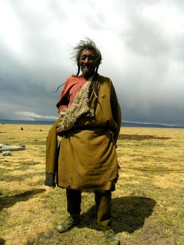 Tibet - Grandpa of a Drokpa family