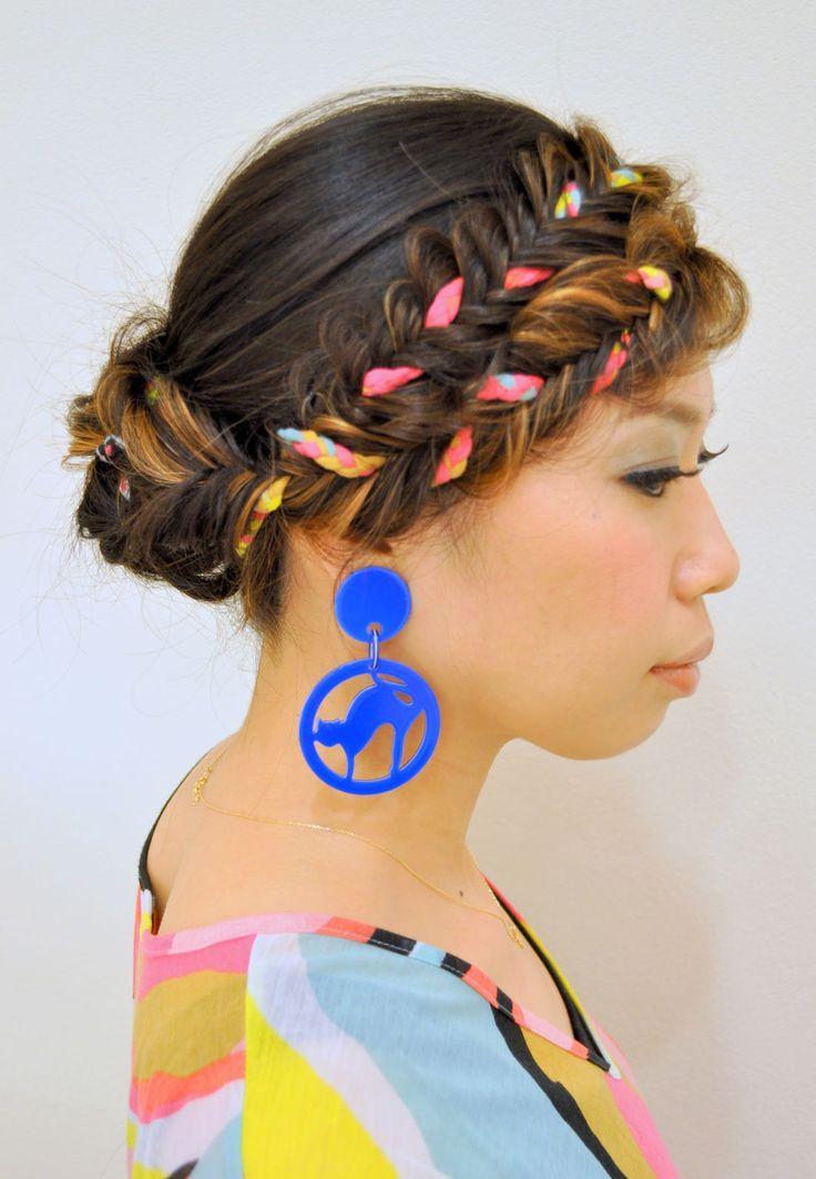 個性的!前髪フィッシュボーン♡ ダンスパフォーマンス用のヘアスタイル 髪型・アレンジ・カットの参考に☆