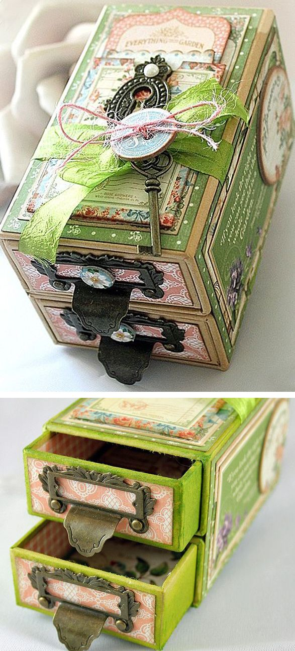 Box embellishment, using papers by Graphics 45 by Robin Shakoor.