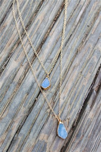 Double Layer Tiny Drusy Necklace