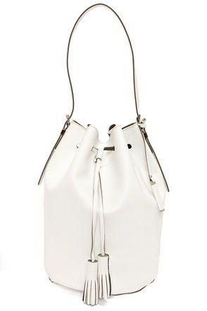 clean white bucket bag #handbag #spring