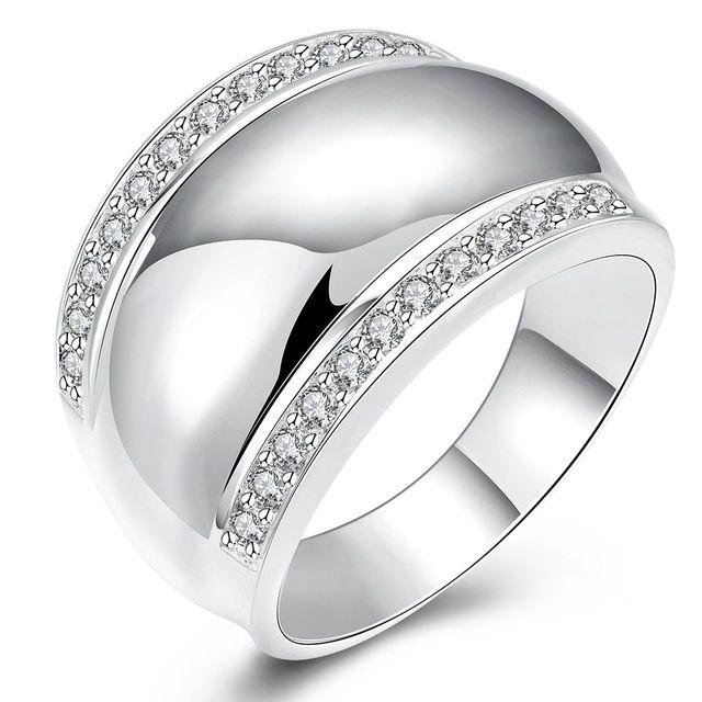 Современные Стерлингового Серебра 925 Кольца Для Женщин Мужчина Невидимым Установка CZ Алмазный AAAA + Cryatl Свадьба Обручальное Кольцо Ювелирные Изделия