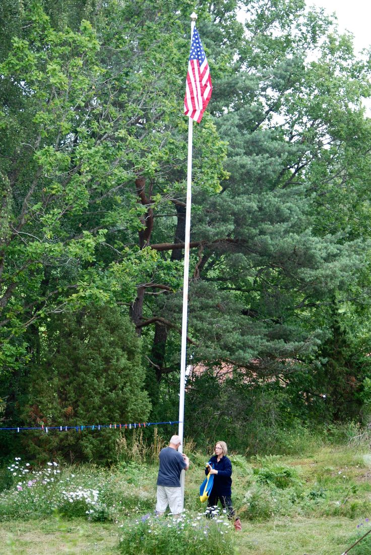 4th of July is usually spent in Sweden, that's when the American flag comes up!