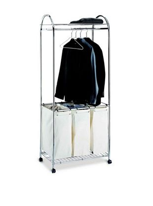 43% OFF Organize It All Chrome Laundry Center