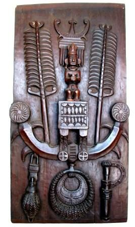 Batak door panel, north Sumatra. Beautifully carved and well preserved. Prob. end 19th/ early 20th C