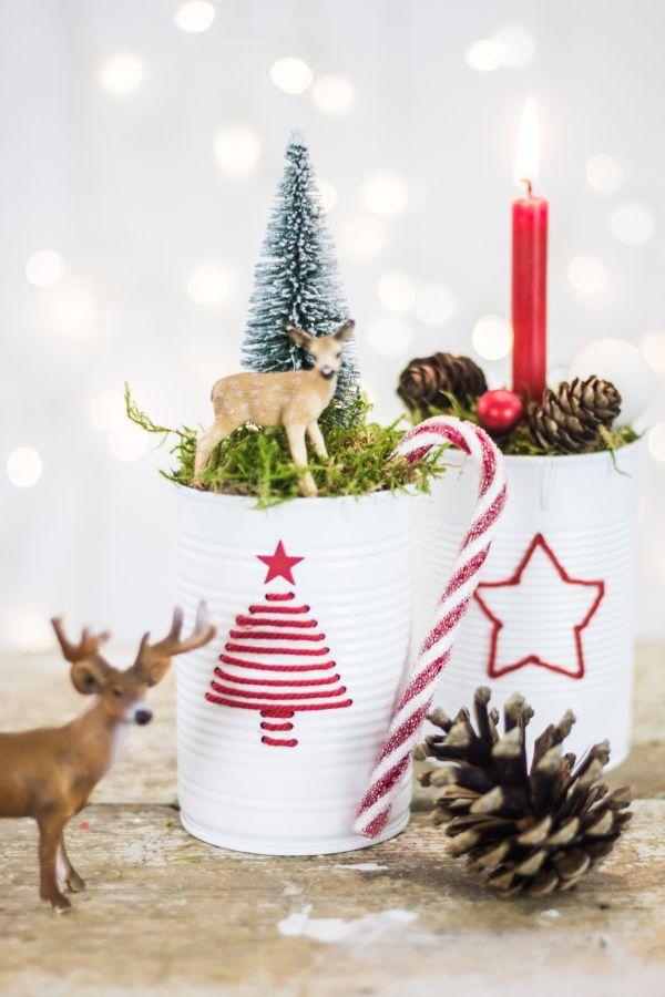 Wie man aus Konservendosen Deko zu Weihnachten selber macht