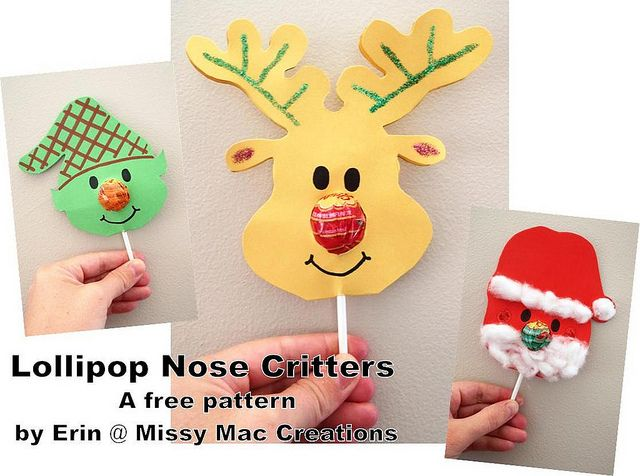 Lollipop Nose Critters - free pattern (with templates!) by Erin @ Missy Mac Creations, via Flickr