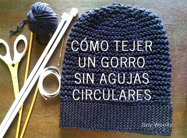 Cómo tejer un gorro con dos agujas/palillos sin agujas circulares | Soy Woolly