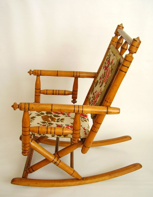 Details About Antique 19 C Child Doll Rocking Chair