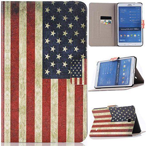 T330 Funda, Samsung Galaxy 4 8.0 Funda, Lifeturt [ Bandera estadounidense ] Ultra Slim Fit Case Funda Carcasa con Stand Función Fundas cubierta de cuero PU superior con ranuras para tarjetas para Samsung Galaxy 4 8.0 SM-T330/SM-T331/SM-T335 - http://www.tiendasmoviles.net/2016/11/t330-funda-samsung-galaxy-4-8-0-funda-lifeturt-bandera-estadounidense-ultra-slim-fit-case-funda-carcasa-con-stand-funcion-fundas-cubierta-de-cuero-pu-superior-con-ranuras-para-tarjetas-para-sams/