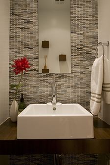 4 powder room makeovers to die for modern powder roomsmodern bathroomssmall - Modern Design Bathrooms 2010