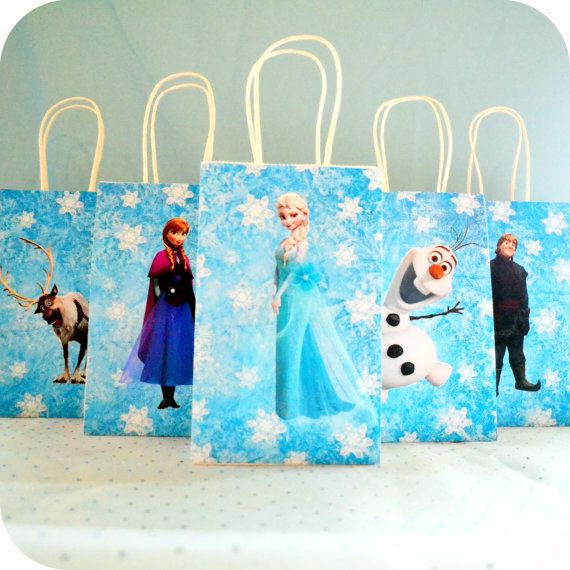 Frozen Party Gift Bags Printable These are the perfect ...