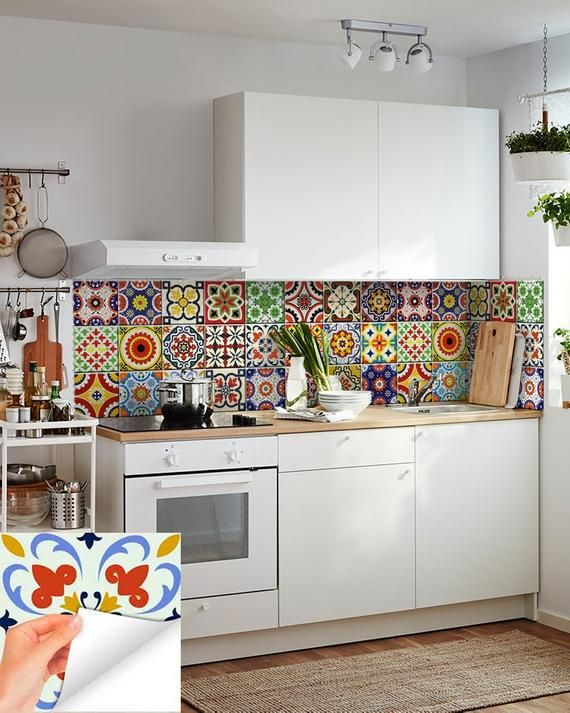 Diy Set Of 24 Vintage Mural Mexican Tiles Decals Bathroom Stickers Mixed Tiles For Walls Kitchen Home Decor D Bathroom Stickers Kitchen Design Tile Decals