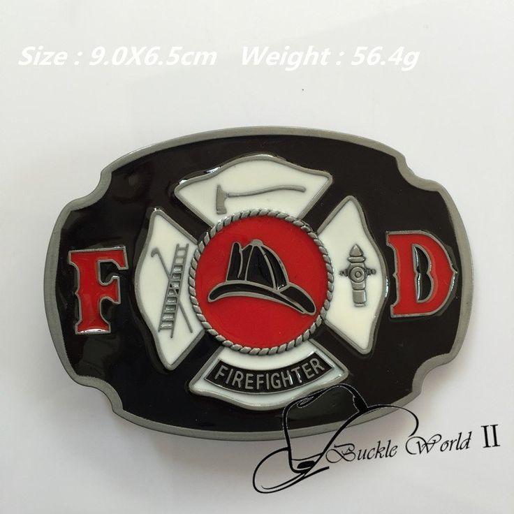 3D FIRE FIGHTERS Belt Buckles Suitable 4cm Wide Belt 90*65mm 56.4g
