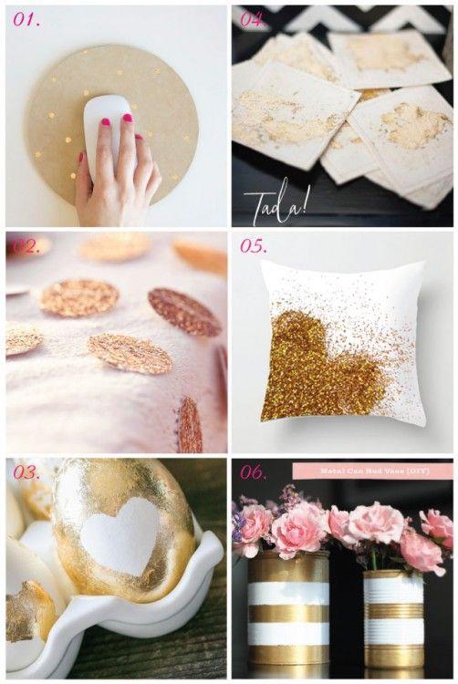 Some great gold DIYs!