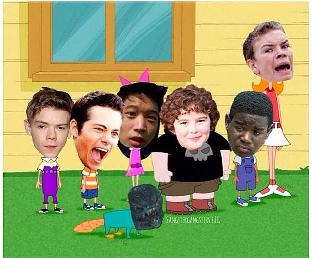 Maze Runner meets Phineas and Ferb! Haha Newt.... <<< it's ironic because the actor that plays Newt also voiced Ferb (Newt's head is on Phineas)