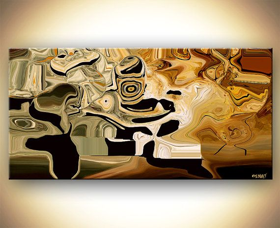 Abstract Print   DIGITAL Composite PRINT on Canvas by OsnatFineArt, $380.00