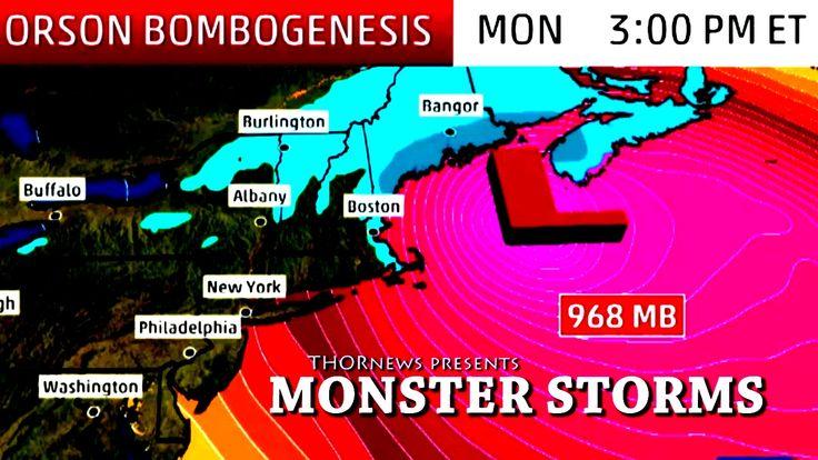 Monster Winter Storm Orson headed to East Coast USA. Bombogenesis!