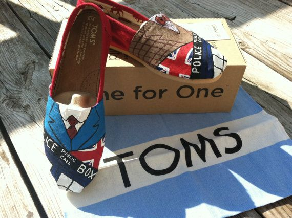 Yes please!  Perhaps in time for the 50th?! Womans Doctor Who/ Tardis TOMS by RubiiShoos on Etsy, $95.00