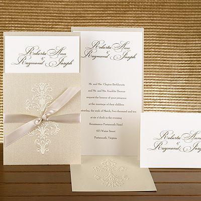 143 best Pocket Wedding Invitations images on Pinterest