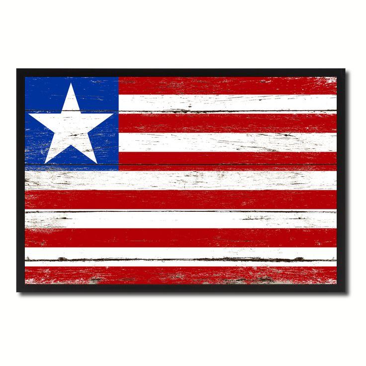 Liberia Country National Flag Vintage Canvas Print with Picture Frame Home Decor Wall Art Collection Gift Ideas