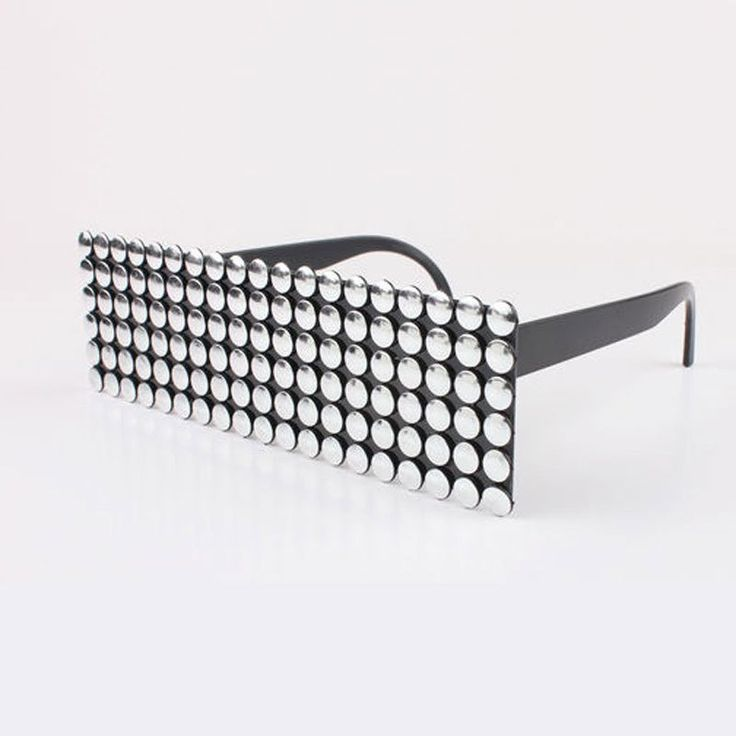 Silver robot glasses for cosplay, space or robot outfits.