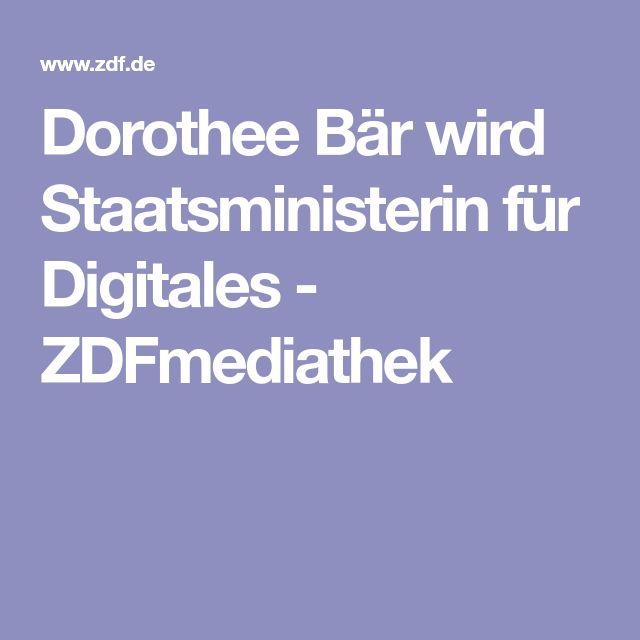 Dorothee Bär wird Staatsministerin für Digitales - ZDFmediathek