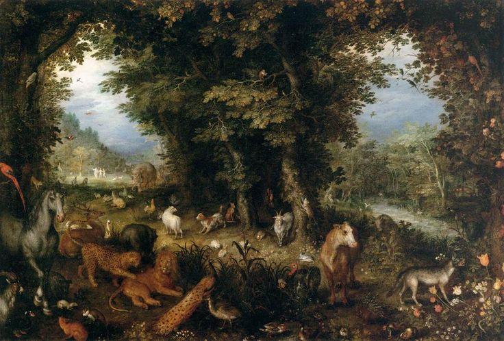 Resultado de imagen de el paraiso terrenal jan brueghel
