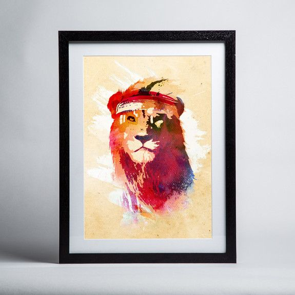 Robert Farkas - Gym Lion - Framed print