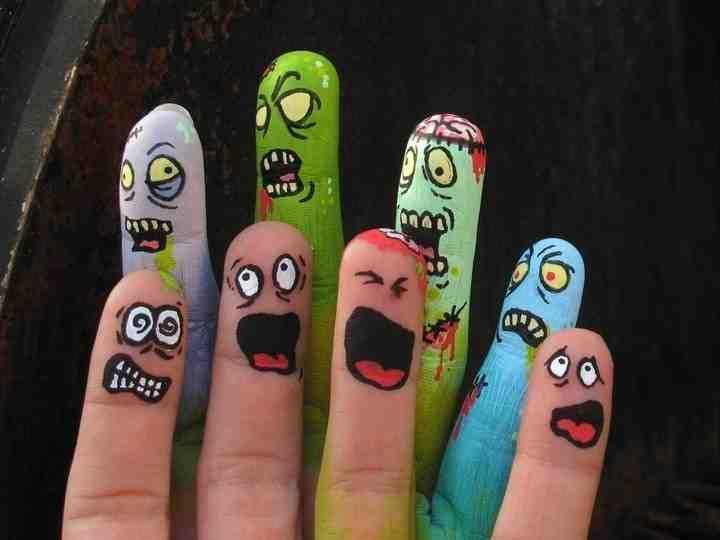 فن الرسم على الأصابع والأيدي صورة ١ Finger Art Funny Fingers Finger