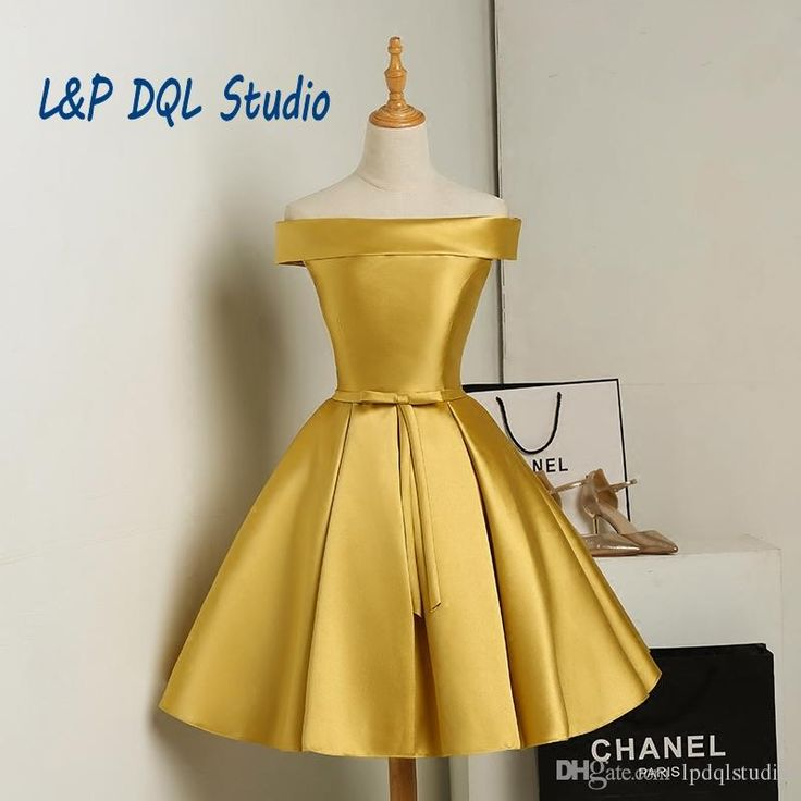 Elegant Satin Bridesmaid Dress Gold Bridesmaid Dresses Knee-length Wedding Party Dresses Cheap Red,Royal Blue,Champagne Bridesmaid Gowns Che Bridesmaid Dresses Gold Bridesmaid Dress Bridesmaid Dress Online with $69.0/Piece on Lpdqlstudio's Store   DHgate.com
