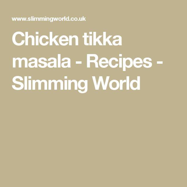 Chicken tikka masala - Recipes - Slimming World
