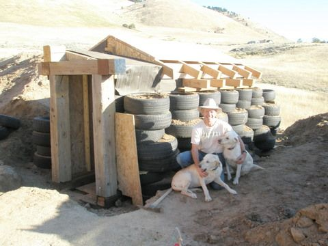 (1 of 3) Root Cellar with tire walls, the finished cellar is amazing...