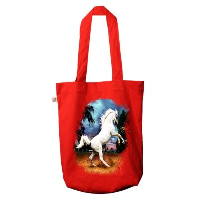 Arabian Stallion - Organic Fashion Tote Bag - Multiple Colours - from JaniceO Designer Tees **Just sold a pretty yellow one to Denmark**