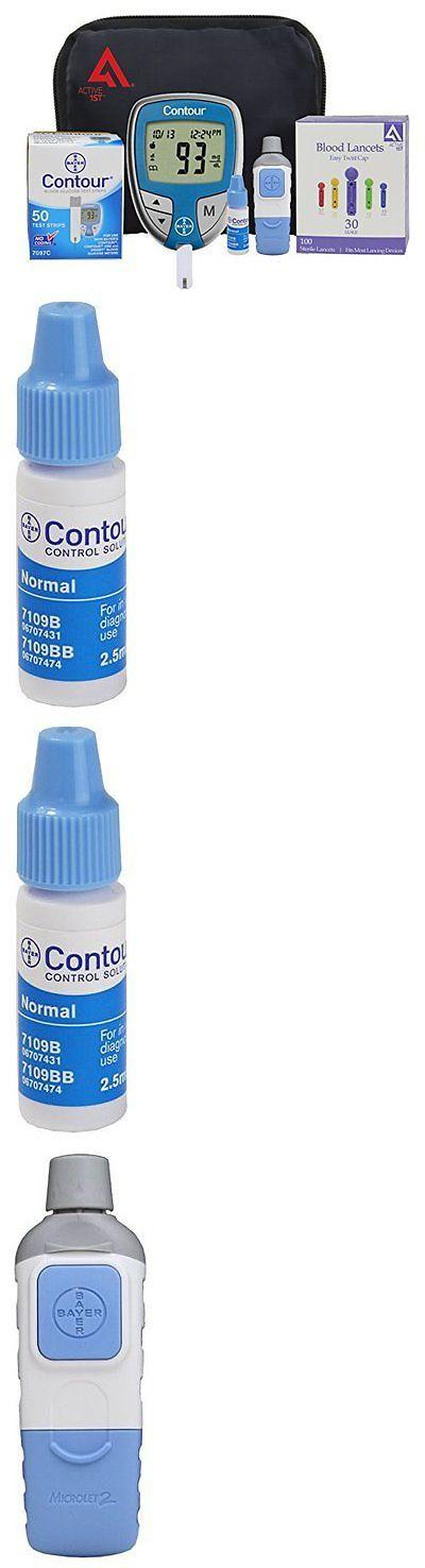Monitoring Kits: Diabetes Testing Kit (Bayer Contour Meter + 50 Contour Test Strips + 50 Active1 BUY IT NOW ONLY: $38.09