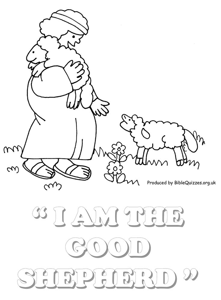 Jesus Coloring Pages Printable Sunday School | Sunday School Coloring Page : The Good Shepherd