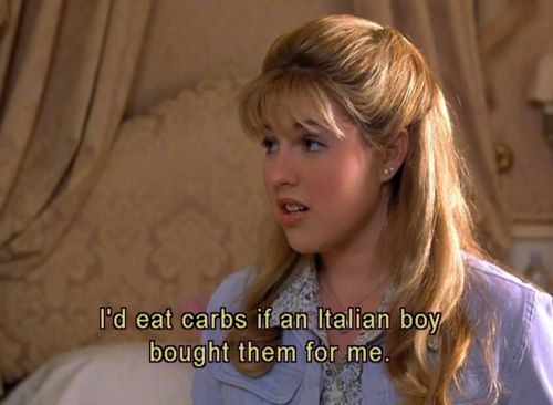 So would I. Actually I'd eat them anyway. But It'd be even better with and Italian boy.