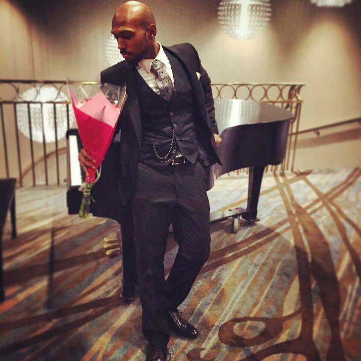 Black suit, black vest...  It's a black affair  #topman #aldo #accesorize