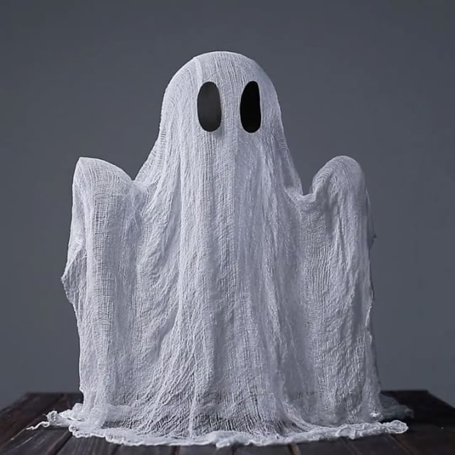 easy cheesecloth ghost - Cheesecloth Halloween Decorations