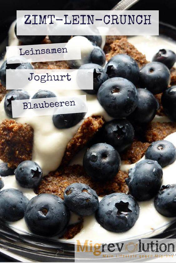 Zimt-Leinsamen-Crunch Ein super Frühstück gegen Migräne mit viel Omega 3. Rezept und mehr auf migrevolution.de