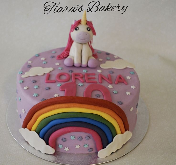 Unicorn Rainbow Cake, by Tiara's Bakery, Switzerland