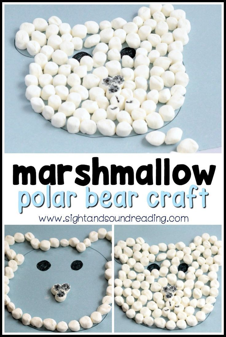 Simple Marshmallow Polar Bear Craft Winter is the perfect time to try fun winter-themed crafts and polar bear crafts! This fun polar bear craft is perfect for preschoolers and kindergartners