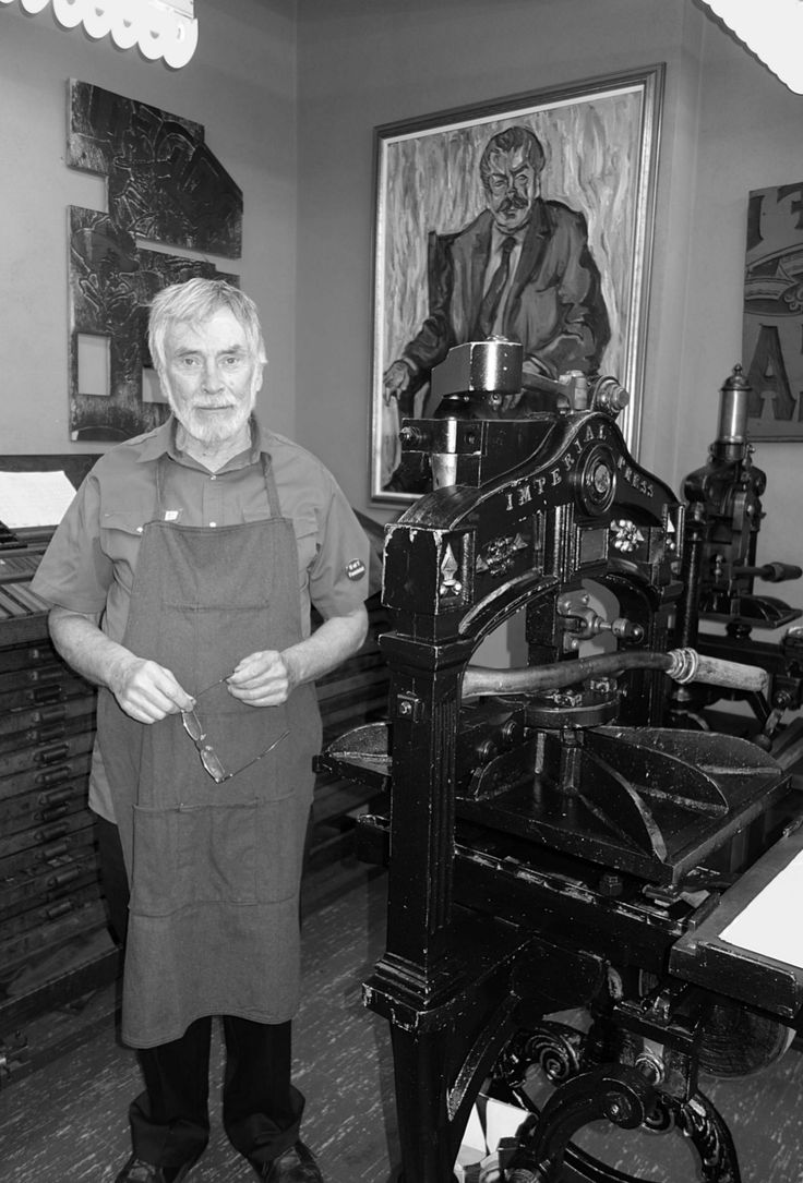 NELSON ADAMS worked for may years at Coach House before setting his talents for digital technology to work helping to perfect typesetting software. He is currently employed as College Printer at Massey College. Photo by Don McLeod.